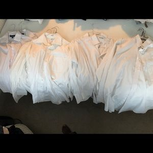 Lot of 12 white dress men's shirts size 16 - 34